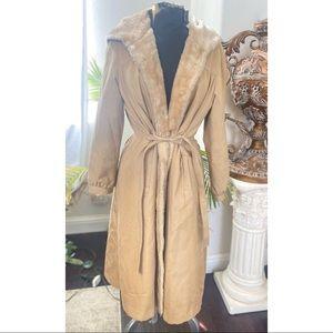 Vintage Bonders all inclusive faux fur trench coat